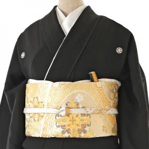 トールサイズ総刺繍黒レンタル留袖-0167LL帯