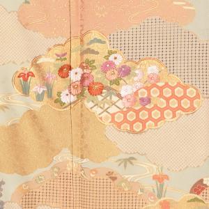 友禅刺繍訪問着レンタル0416M裾。友禅刺繍,,訪問着レンタル,安い,相場,結婚式,貸衣装,着付け,美容室
