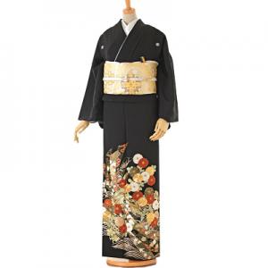 トールサイズ総刺繍黒留袖レンタル0167LL
